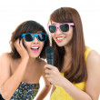 Royalty-Free Stock Photo: Karaoke singers