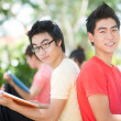 Handsome male students — Stockfoto