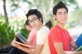 Handsome male students — Stock Photo