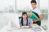 Consulting a student — Foto Stock