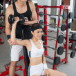 Workout with instructor — Stock Photo