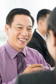 Cheerful businessman — Stockfoto