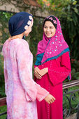 Fashionable muslim girls — Stock Photo