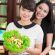 Happy Asian sisters — Stock Photo