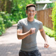 Happy jogger - Foto Stock