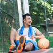 After basketball training - Stock Photo