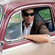 Stockfoto: Lover-boy in a car