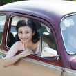 Lovely passenger — Stock Photo