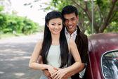 Romantics and car — Stock Photo