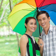 Stock Photo: Under umbrella