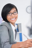 Attractive assistant — Stock Photo