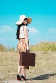 Pretty traveler — Stock Photo