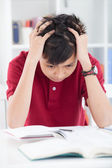 I am tired of studying! — Stock Photo