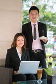 Businesspeople at lunch — Stock Photo