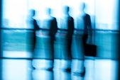 Blurred people at the office — Foto Stock