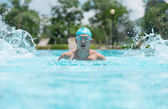 Energetic swimmer — Stock Photo