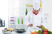 Professional cooking — Stock Photo