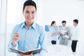 Cheerful manager — Stock Photo