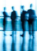 Pessoas borradas — Foto Stock