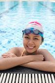 Lovely swimmer — Stock Photo