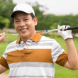 Mature golf player — Stock Photo