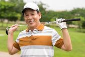 Mature golf player — Stockfoto