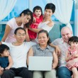 Friendly big family — Stock Photo