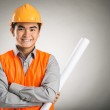 Confident constructor worker — Stock Photo