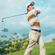 Foto Stock: Playing golf