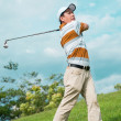Playing the golf — Stock Photo