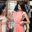 Choosing the dress — Stock Photo
