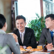 Joyful business lunch — Stock Photo