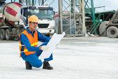 On work-site — Stock Photo