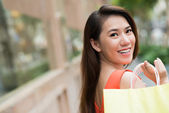 Cheerful lady — Stock Photo