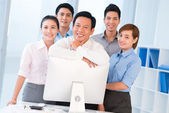 Business team and its leader — Stock Photo