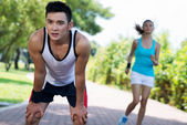 Tired of jogging — Stock Photo