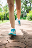 Jogging in the park — Stock Photo