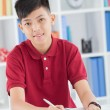Stock Photo: Diligent schoolboy