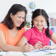 Studying with mum  — Stock Photo