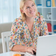 Woman with laptop — Stock Photo #31307151