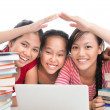 Happy schoolmates — Stock Photo