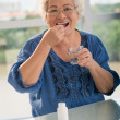 Vitamins for seniors — Stock Photo