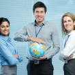 International workgroup — Stock Photo