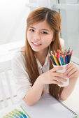 Talented student — Stock Photo