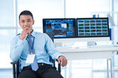 Young broker — Stock Photo