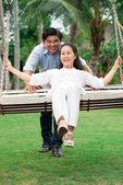 Cheerful couple in-love — Stock Photo