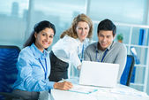 Cooperative colleagues — Stock Photo