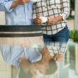 Kissing in reflection — Stock Photo #32649079