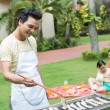 Barbecue for the family  — Stock Photo