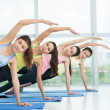 Aerobics practicing — Stock Photo